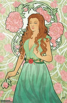 Margaery Tyrell - Game of Thrones Art Nouveau - A Song of Ice and Fire Illustrations #gameofthrone #GOT