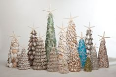Recycle Reuse Renew Mother Earth Projects: how to make a Wood Shim Holiday Tree and other types- all reusing ideas :)