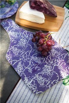 "IGVCBP 7.75"" x 14.25"" x .25"" The Vintner's Cottage  Glass Bottle Board Purple                                                        vineyard decor"