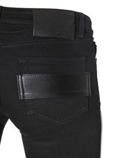 givenchy - women - pants - stretch nappa leather & denim jeans
