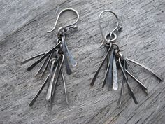 sterling silver tinsel earrings by LisaColbyMetalsmith on Etsy, $70.00