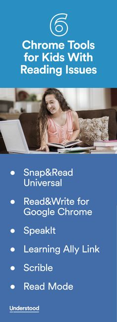 Teach Your Child To Read Tips - If your child has reading issues and uses Chrome, there are several tools that can help. Learn about these six apps and extensions. - TEACH YOUR CHILD TO READ and Enable Your Child to Become a Fast and Fluent Reader! Reading Help, Teaching Reading, Teaching Kids, Kids Learning, Teaching Technology, Educational Technology, Assistive Technology, Reading Resources, Reading Strategies