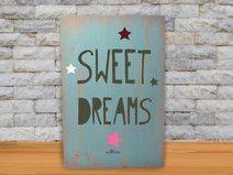 Cuadros originales pintados en madera.Sweet Dreams
