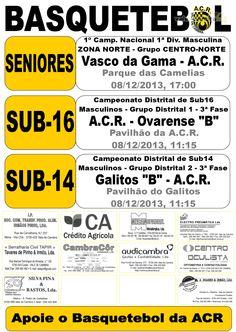 ACR: Basquetebol > 8 Dezembro 2013 #ValeDeCambra #basquetebol
