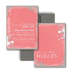 Pink Wedding Invitations, Coral Wedding Invitations, Guava, Blush