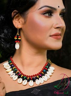 Order contact my WhatsApp number 7874133176 Fancy Jewellery, Trendy Jewelry, Fashion Jewelry, Textile Jewelry, Fabric Jewelry, Shell Jewelry, Beach Jewelry, Handmade Jewelry Designs, Handmade Necklaces