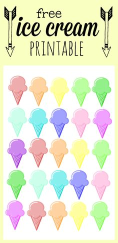Our Thrifty Ideas | Ice Cream – Rainbow Printable | http://www.ourthriftyideas.com