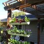 Hanging drain pipe garden - How to
