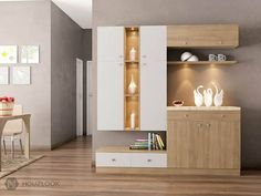 images of contemporary crockery unit Dining Room Bar, Dining Room Design, Dining Rooms, Kitchen Design, Crockery Cabinet, Crockery Units, Dining Cabinet, Layout Design, Design Ideas