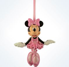 disney parks christmas minnie mouse ballerina resin ornament new with tag