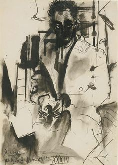 Portrait of Man Ray by Pablo Picasso, 1934