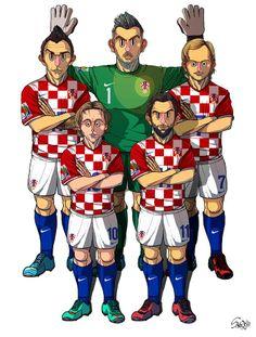 [Croatia] Stipe Pletikosa, Mandzukic, Rakitic, Modric, Darijo Srna
