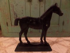 Antique Cast Iron Horse Windmill by buckeyeantiques on Etsy