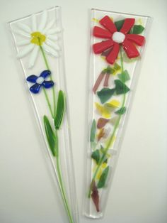 Inspiration for Fused Glass Plant Stakes