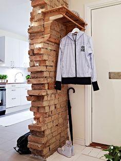 Стильный дом - Кирпичная стена как элемент декора