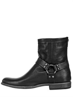 FRYE - KATE MOSS LEATHER LOW BOOTS
