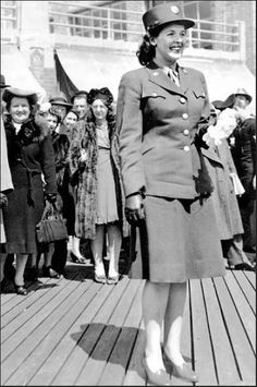 "One Easter Sunday, during World War II, Winifred Leiser was singled out as the ""Best Dressed Woman in Uniform"" and presented with an orchid while walking on the boardwalk in Atlantic City, N.J. ~"