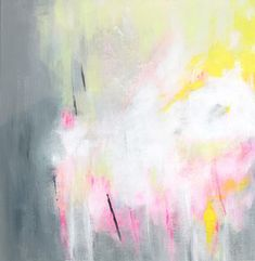 Large wall art abstract print up to 40x40 Abstract wall art, Canvas Art grey painting with pink yellow by Duealberi #acrylicpainting #minimalistpainting #largeabstract #duealberi #interiorstyling #paintings #wallart #abstractpainting #homedecor #abstractart #modernart #interiors #contemporaryart
