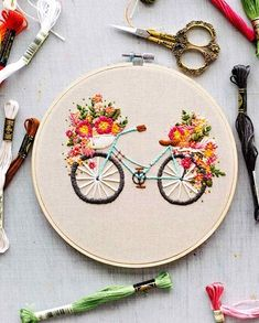 Floral Embroidery Patterns, Hardanger Embroidery, Simple Embroidery, Learn Embroidery, Hand Embroidery Stitches, Silk Ribbon Embroidery, Embroidery Hoop Art, Embroidery Techniques, Cross Stitch Embroidery