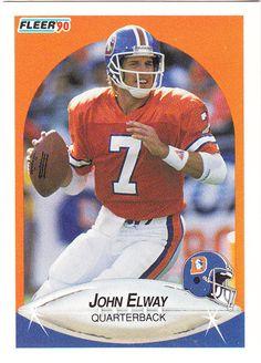 1990 Fleer John Elway, Denver Broncos #Elway #Broncos