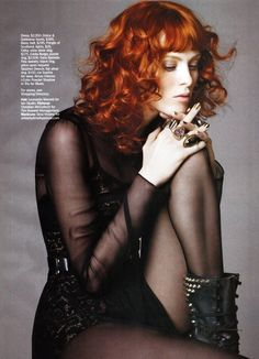 Karen Elson by Simon Burstall for Marie Claire - Fashion photography