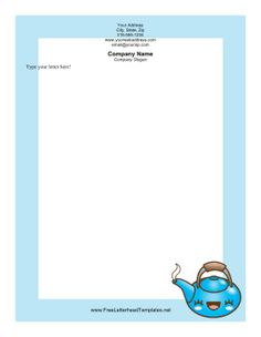 Kids will love this pink Valentines Day letterhead decorated with