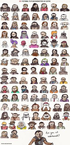 101 Fictional Characters as Sloths 7••• I'm only repining this because of the gladiator tribute at the end