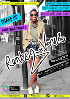 Fashion pop-up event in Shoreditch, London - poster via Behance.