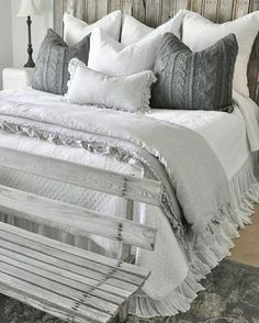 Most Beautiful Rustic Bedroom Design Ideas. You couldn't decide which one to choose between rustic bedroom designs? Are you looking for a stylish rustic bedroom design. We have put together the best rustic bedroom designs for you. Find your dream bedroom. Bedroom Sets, Dream Bedroom, Home Decor Bedroom, Bedroom Furniture, Girls Bedroom, Guest Bedrooms, Bedroom Romantic, Queen Bedroom, Trendy Bedroom