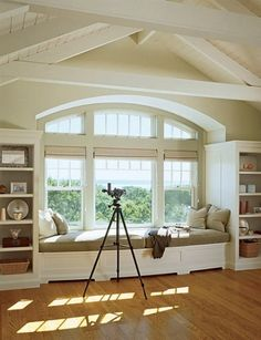 windows, bench, open layout  I LOVE that the side windows OPEN, the middle is for view