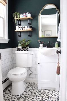 Small Bathroom Storage, Bathroom Design Small, Bathroom Interior Design, Colors For Small Bathroom, Interior Livingroom, Bathroom Designs, Small Half Bathrooms, Small Bathroom Inspiration, Interior Ideas