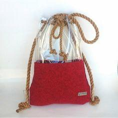 Bucket bag, shoulder bag, backpack bucket bag,felt drawstring bag,... (173 PLN) ❤ liked on Polyvore featuring bags