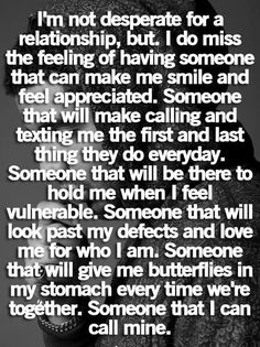 Miss it, but at the same time it's scary to put that trust in someone again.