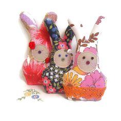 Set of 3 VINTAGE Lavender Rabbits   £18.00
