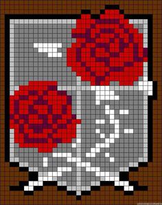 Attack on titan garrison guard embroidery cross stitch pattern