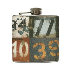 License Plate Whiskey Flask