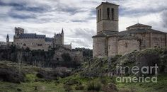 Church of the Hold Cross and the Alcazar in Segovia Spain. To view or purchase my prints, please visit my website at joan-carroll.artistwebsites.com THANKS!