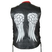 The Walking Dead Governor Daryl Dixon Angel Wings Genuine Leather Vest on SALE with FREE Shipping  #WalkingDead #AngelWings #RT #Cosplay #Costume #UK #USA #Australia #SouthAfrica #LM