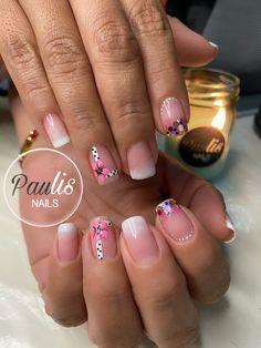 Nails, Color, Fashion, Brush Pen, Finger Nails, Polish Nails, Cute Nails, Short Nail Manicure, Nail Manicure