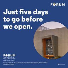 And so the countdown begins... #nammamysuru #MaharajaofMalls #Openingsoon #forummysuru