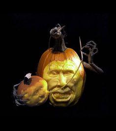 Citrouille d'Halloween : Des sculptures de citrouilles décalées avec un certain brin d'humour // DR