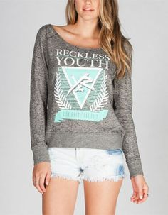 YOUNG & RECKLESS Live Fast Womens Sweatshirt