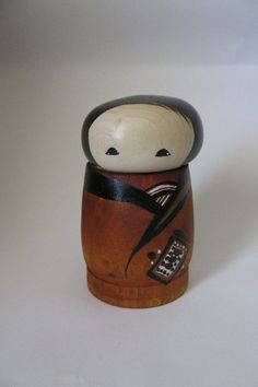Kokeshi+doll+by+NaomiGallery+on+Etsy,+$34.00