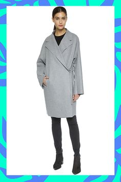 """The """"Groutfit"""" Is Fashion's New Term For A Very Specific Look #refinery29  http://www.refinery29.com/all-grey-outfits#slide-4  The OvercoatGo for a long overcoat to polish off an all-gray-everything look. ..."""