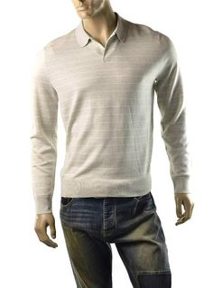 Polo Ralph Lauren Sweater Polo Merino Stripe Shirt Mens Size L Jumper NEW #PoloRalphLauren #Polo
