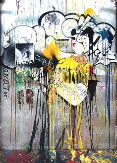 Collage With Dripping Paint Photograph  - Collage With Dripping Paint Fine Art Print
