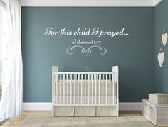for this child i prayed vinyl decal wall decal custom wall custom quote nursery wall decal i samuel 127 wall decal this child i prayed