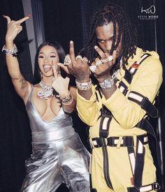 Cardi B and Rapper Offset Black Couples Goals, Cute Couples Goals, Rihanna, Photos Des Stars, Flipagram Instagram, Cardi B Photos, Trending Photos, Look Girl, Bae Goals