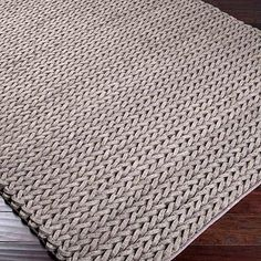 Mushroom knit area rug 10 Knit Rugs for the Modern Home