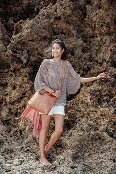 Okello Dolman Sleeve Sweater Grey | Fair Trade Organic Cotton | Raven + Lily